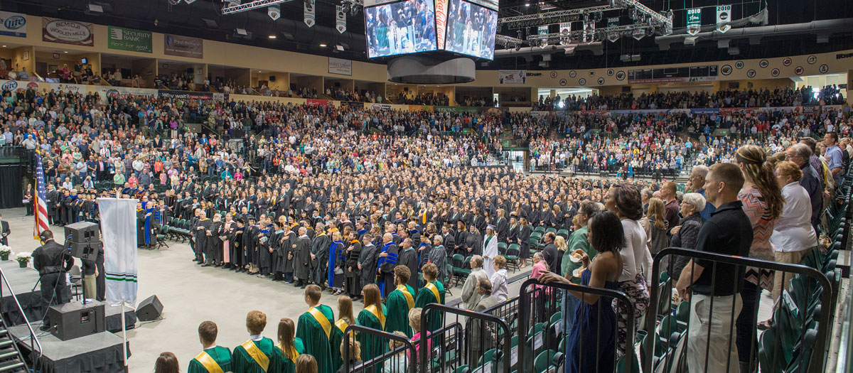 BSU Commencement at the Sanford Center